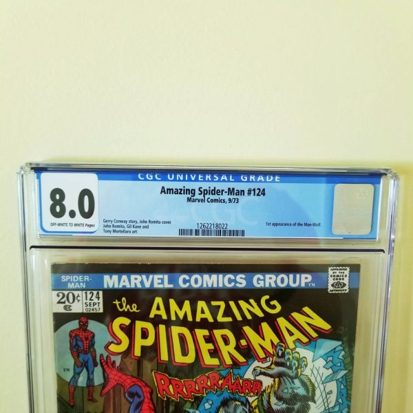 Amazing Spider-Man #124 CGC 8.0 Front Label