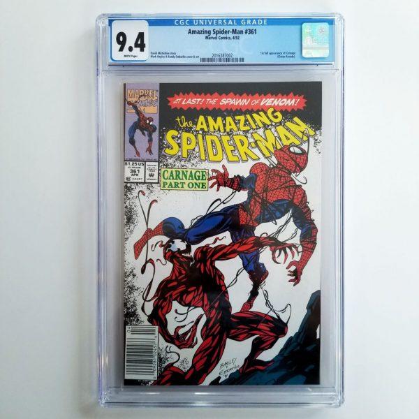 Amazing Spider-Man #361 CGC 9.4 Front