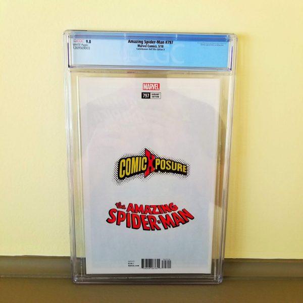 Amazing Spider-Man #797 ComicXposure Dell'Otto Virgin Variant CGC 9.8 Back