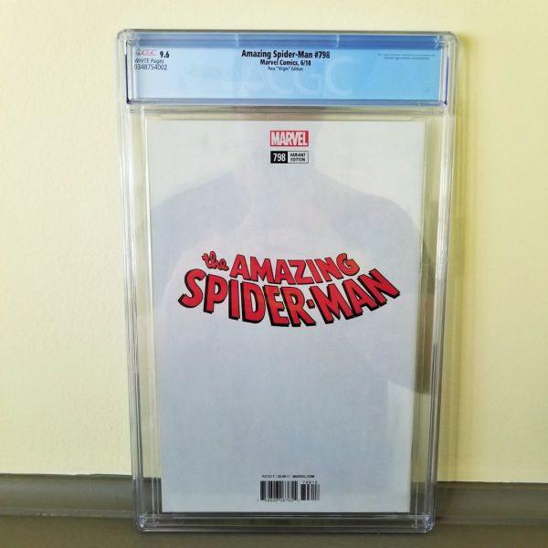 Amazing Spider-Man #798 CGC 9.6 Alex Ross Virgin Variant Back