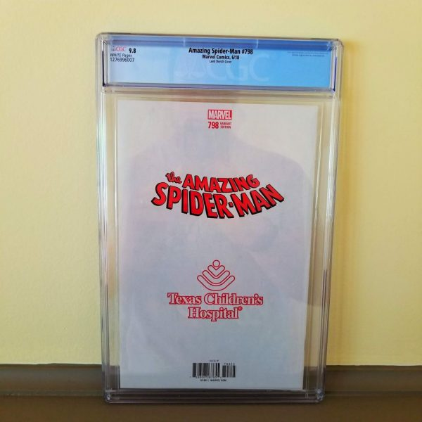 Amazing Spider-Man #798 CGC 9.8 Land Sketch Variant Back
