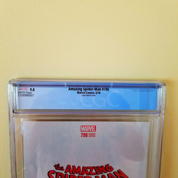Amazing Spider-Man #798 CGC 9.8 Land Sketch Variant Back Label