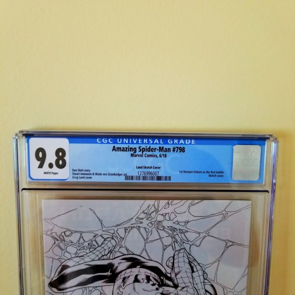 Amazing Spider-Man #798 CGC 9.8 Land Sketch Variant Front Label