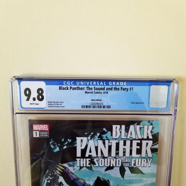 Black Panther The Sound And The Fury #1 CGC 9.8 Front Label