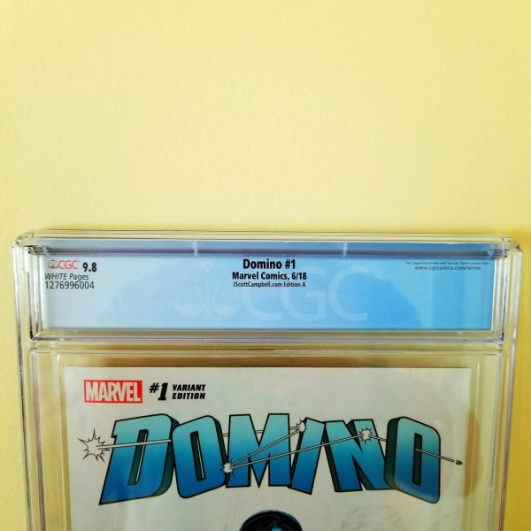 Domino #1 CGC 9.8 J. Scott Campbell Cover A Back Label