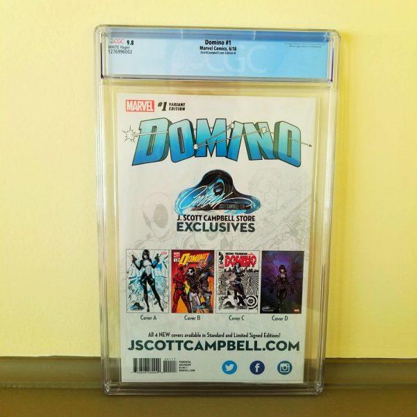 Domino #1 CGC 9.8 J. Scott Campbell Cover B Back