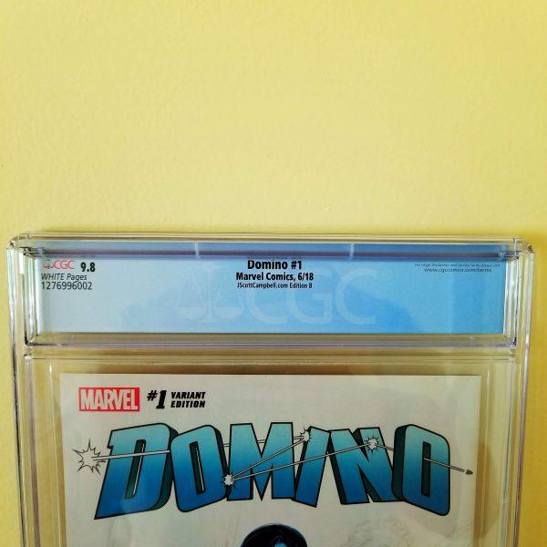 Domino #1 CGC 9.8 J. Scott Campbell Cover B Back Label