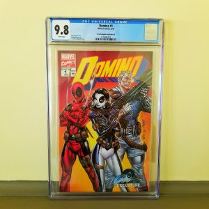 Domino #1 CGC 9.8 J. Scott Campbell Cover B Front