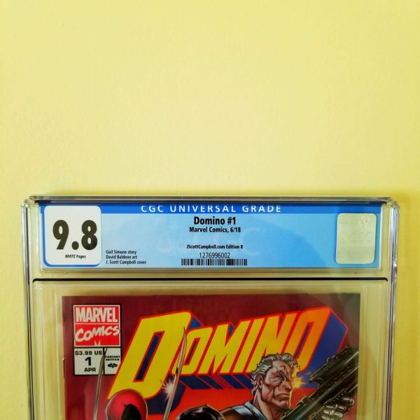Domino #1 CGC 9.8 J. Scott Campbell Cover B Front Label