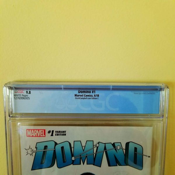 Domino #1 CGC 9.8 J. Scott Campbell Cover C Back Label