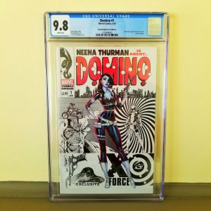 Domino #1 CGC 9.8 J. Scott Campbell Cover C Front