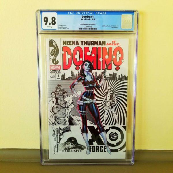 Domino #1 CGC 9.8 J. Scott Campbell Cover C Front