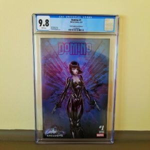 Domino #1 CGC 9.8 J. Scott Campbell Cover D Front