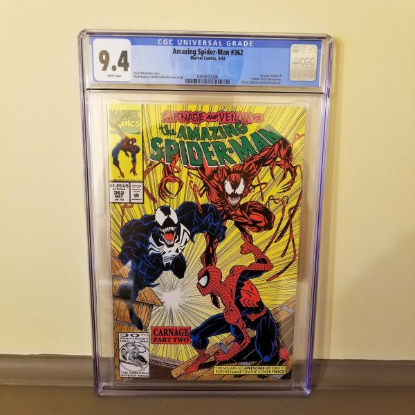 Amazing Spider-Man #362 CGC 9.4 Front