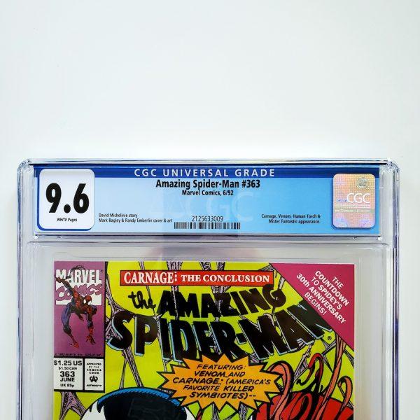 Amazing Spider-Man #363 CGC 9.6 NM+ Front Label