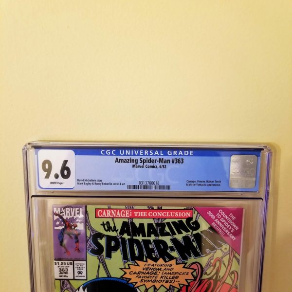 Amazing Spider-Man #363 CGC 9.6 Front Label