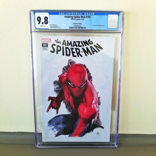 Amazing Spider-Man #797 CGC 9.8 Dell'Otto Convention Variant Front
