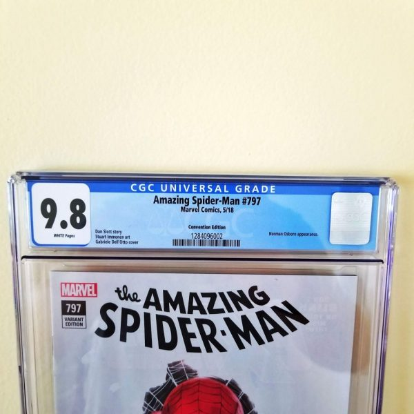 Amazing Spider-Man #797 CGC 9.8 Dell'Otto Convention Variant Front Label