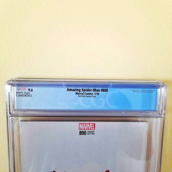 Amazing Spider-Man #800 Dell'Otto 1:25 Variant CGC 9.6 Back Label