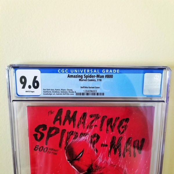 Amazing Spider-Man #800 Dell'Otto 1:25 Variant CGC 9.6 Front Label