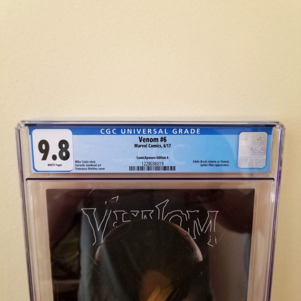 Venom #6 Mattina ComicXposure Edition A CGC 9.8 Front Label