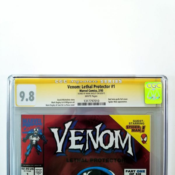 Venom: Lethal Protector #1 CGC 9.8 Signed By Mark Bagley Front Label