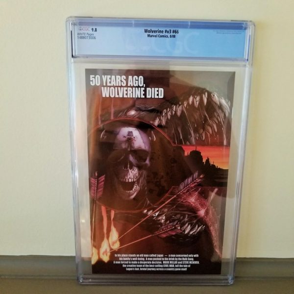 Wolverine (Vol. 3) #66 CGC 9.8 Back