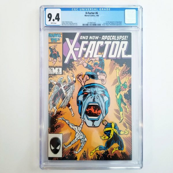 X-Factor #6 CGC 9.4 NM Front