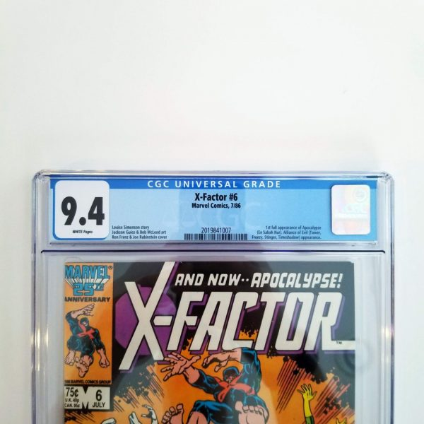 X-Factor #6 CGC 9.4 NM Front Label