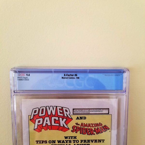 X-Factor #6 CGC 9.4 Back Label