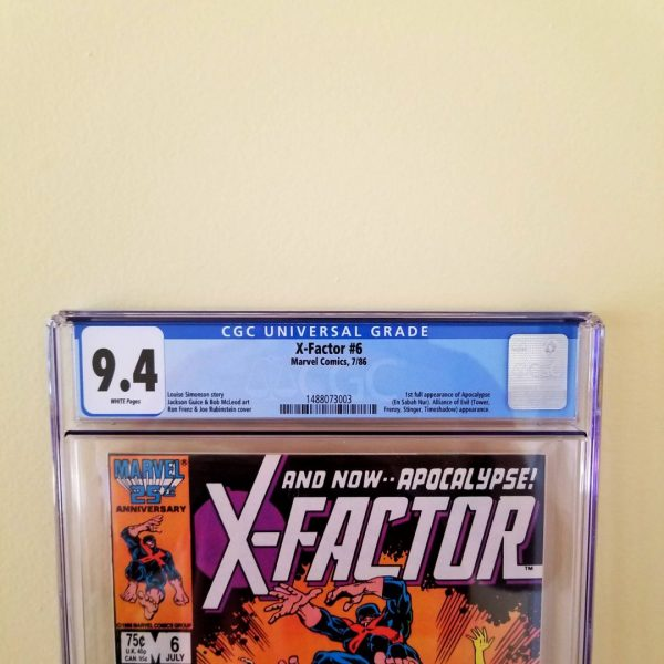 X-Factor #6 CGC 9.4 Front Label
