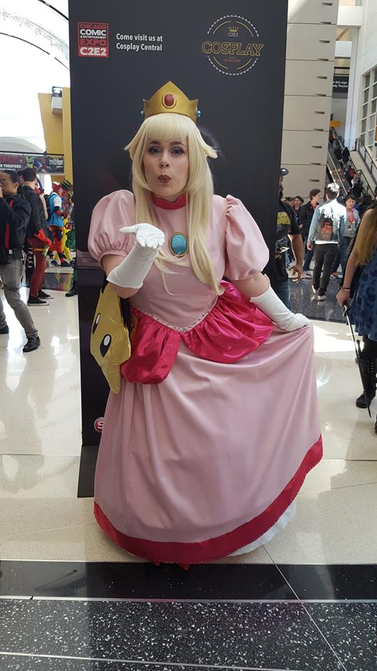 Cosplaying as Princess Peach at C2E2
