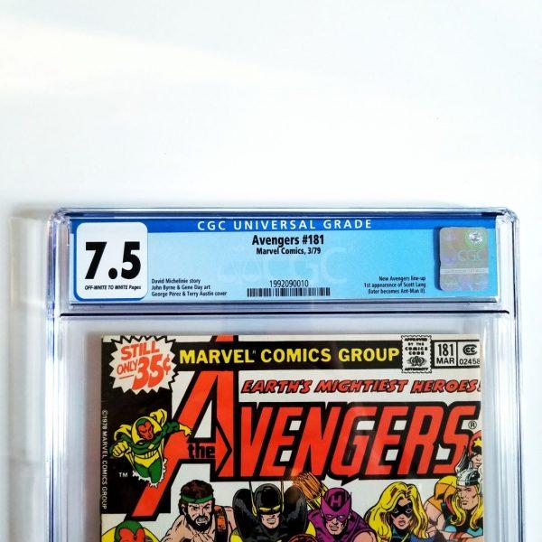 Avengers #181 CGC 7.5 Front Label