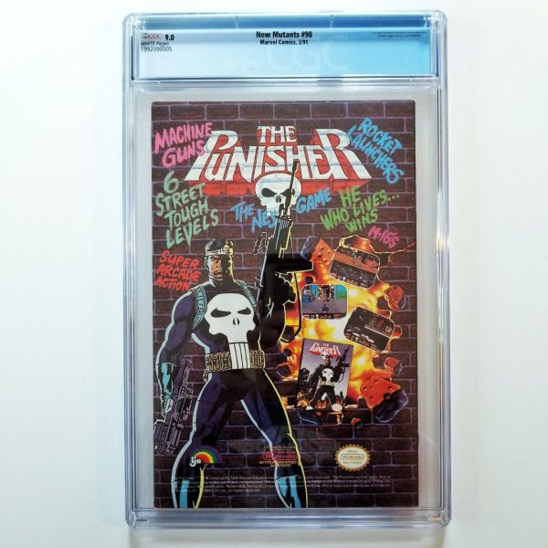 New Mutants #98 CGC 9.0 Back