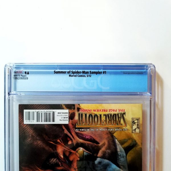 Summer of Spider-Man Sampler #1 CGC 9.6 Back Label