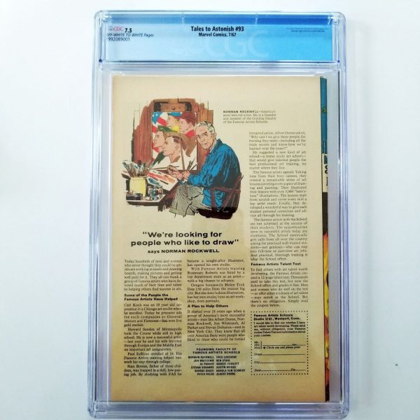Tales to Astonish #93 CGC 7.5 Back