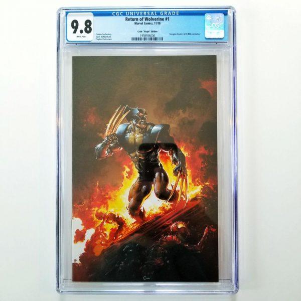Return of Wolverine #1 CGC 9.8 Clayton Crain Virgin Variant Front