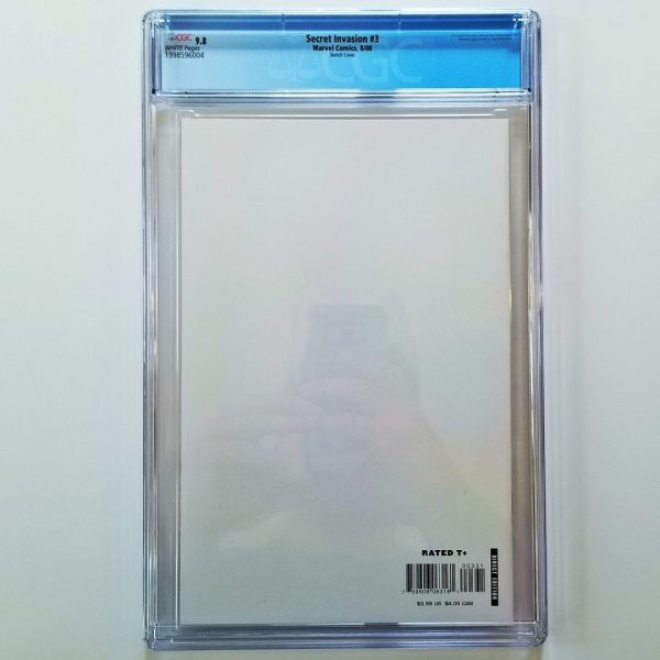 Secret Invasion #3 CGC 9.8 NM/M Steve McNiven Sketch Variant Back