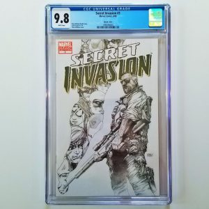 Secret Invasion #3 CGC 9.8 NM/M Steve McNiven Sketch Variant Front