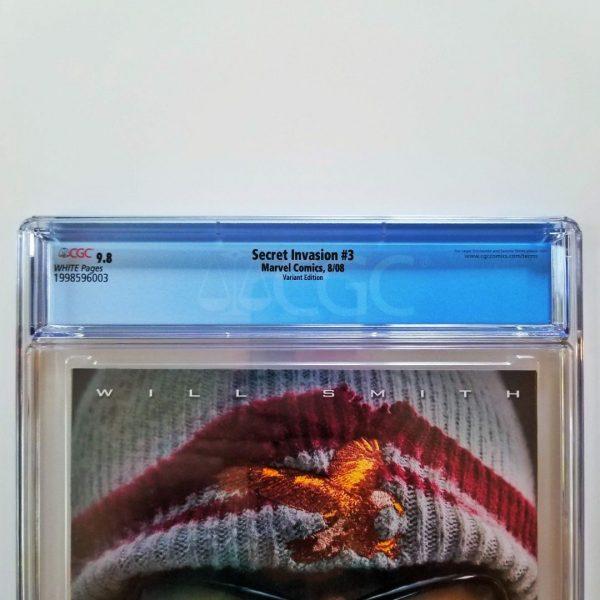 Secret Invasion #3 CGC 9.8 NM/M Steve McNiven Variant Back Label