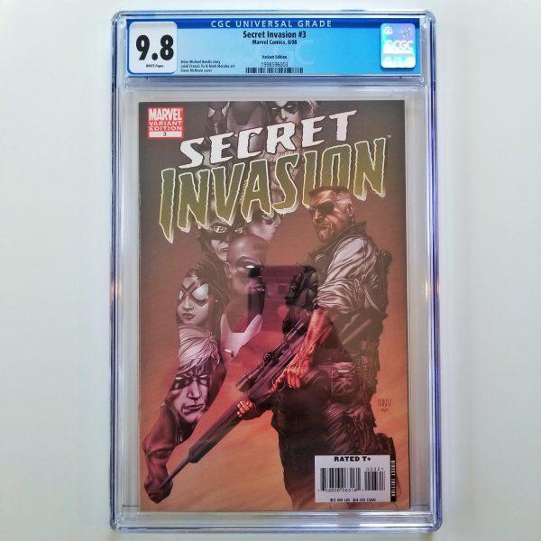 Secret Invasion #3 CGC 9.8 NM/M Steve McNiven Variant Front