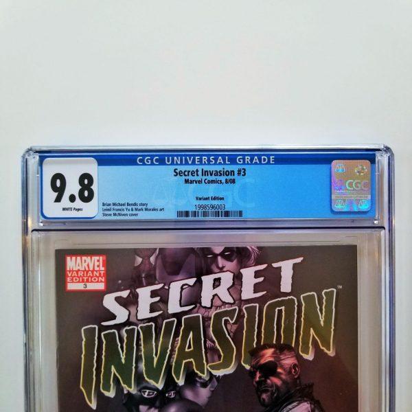 Secret Invasion #3 CGC 9.8 NM/M Steve McNiven Variant Front Label