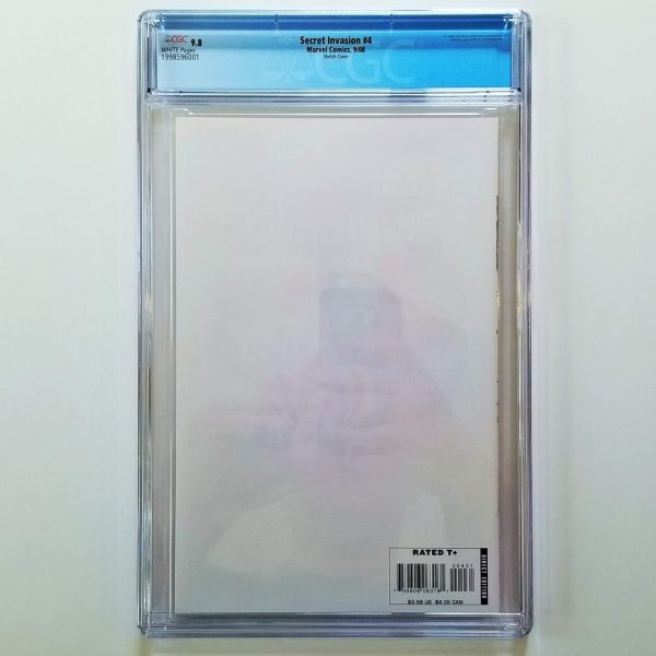 Secret Invasion #4 CGC 9.8 NM/M Steve McNiven Sketch Variant Back
