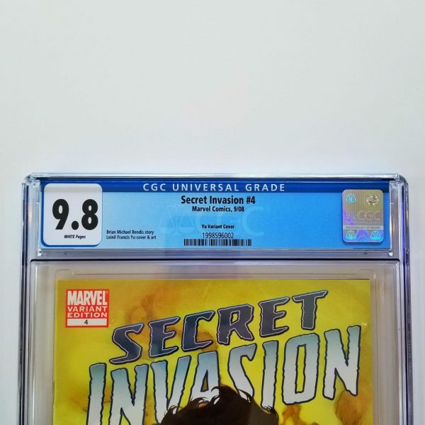 Secret Invasion #4 CGC 9.8 Leinil Francis Yu Variant Front Label