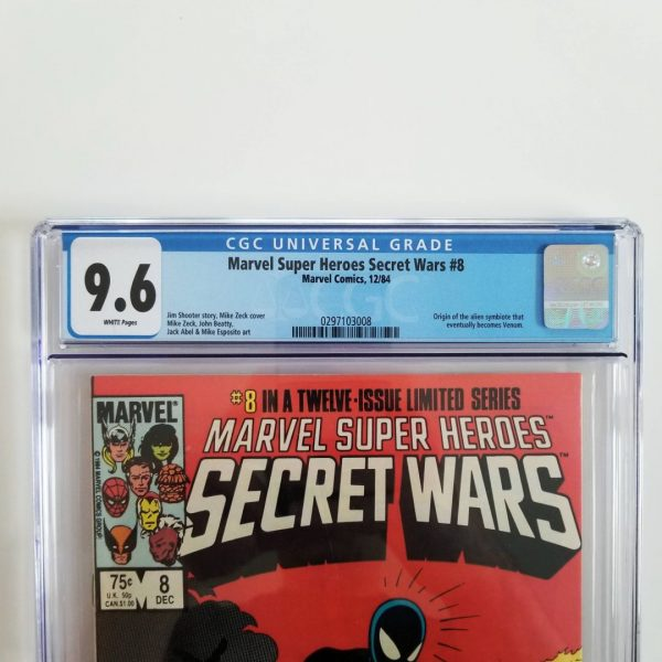 Secret Wars #8 CGC 9.6 Front Label