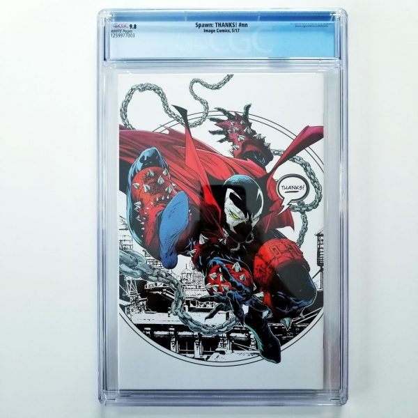 Spawn: THANKS! CGC9 9.8 NM/M Back
