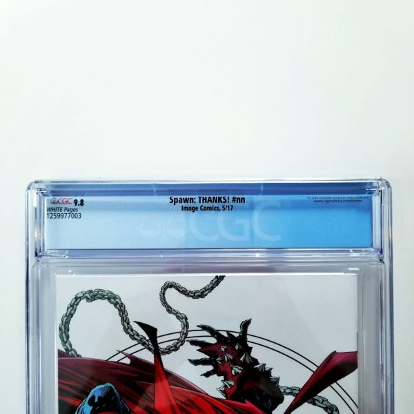 Spawn: THANKS! CGC9 9.8 NM/M Back Label