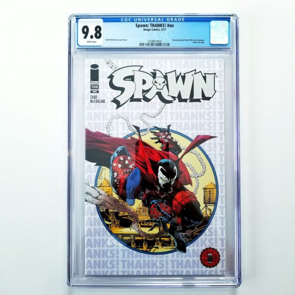 Spawn: THANKS! CGC9 9.8 NM/M Front