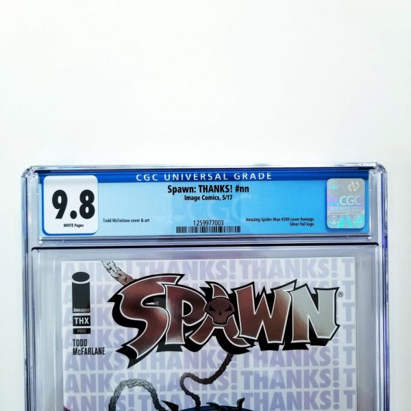 Spawn: THANKS! CGC9 9.8 NM/M Front Label