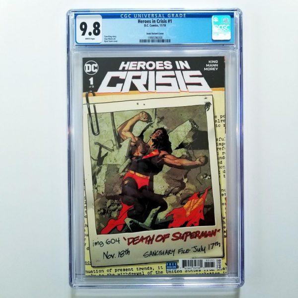 Heroes in Crisis #1 CGC 9.8 Ryan Sook Variant Front